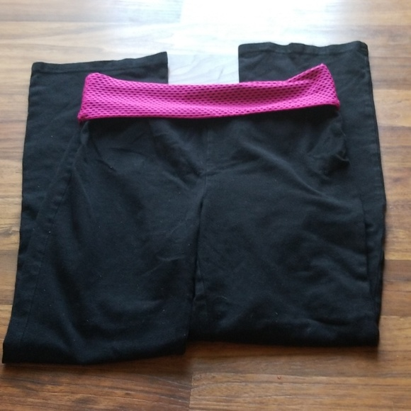 NWT NIKE Girls Athletic Rolled Waist Yoga Pants Black//Pink SELECT SIZE